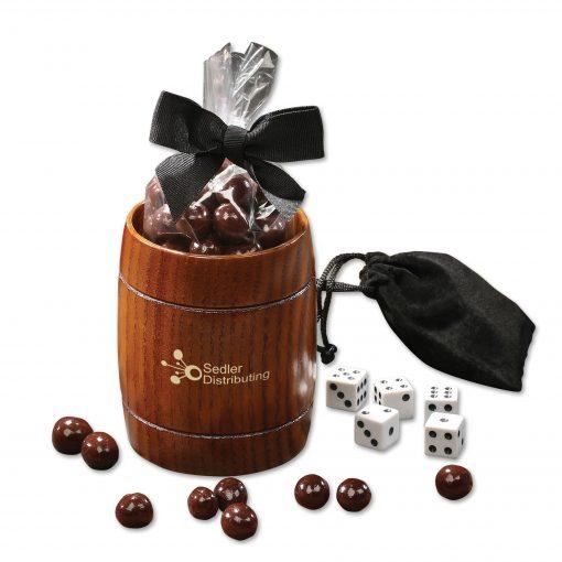 Classic Wooden Barrel Cup with Barrel-Aged Bourbon Cordials