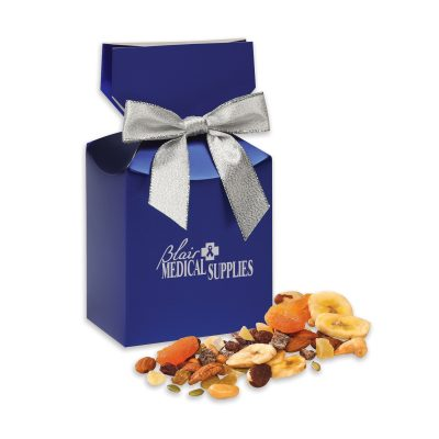 Western Trail Mix in Metallic Blue Gift Box