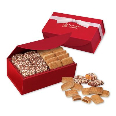 Cinnamon Churro Toffee & English Butter Toffee in Red Magnetic Closure Box