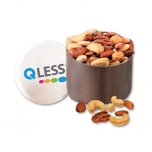 Designer Tin with Deluxe Mixed Nuts and Full Color Imprint
