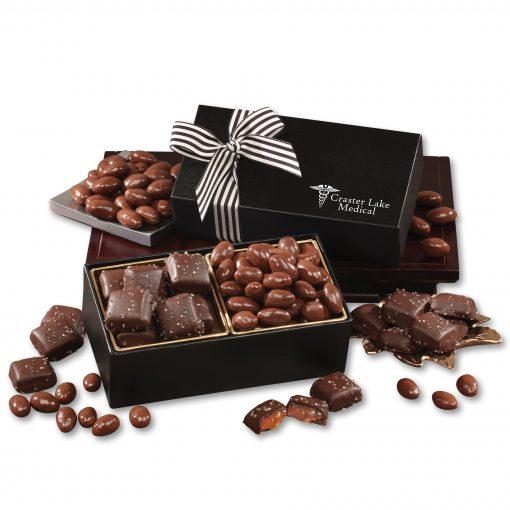 Chocolate Splendor with Chocolate Sea Salt Caramels & Chocolate Covered Almonds