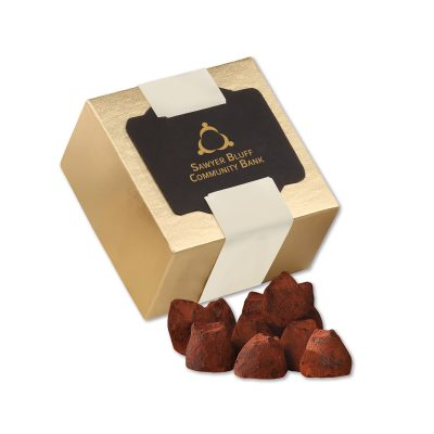 Cocoa Dusted Truffles in Gold Gift Box