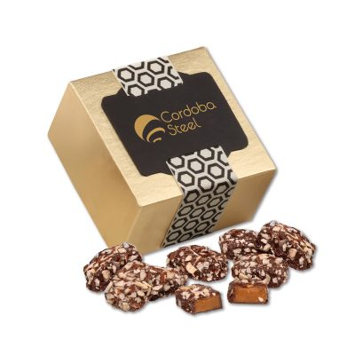 English Butter Toffee in Gold Gift Box
