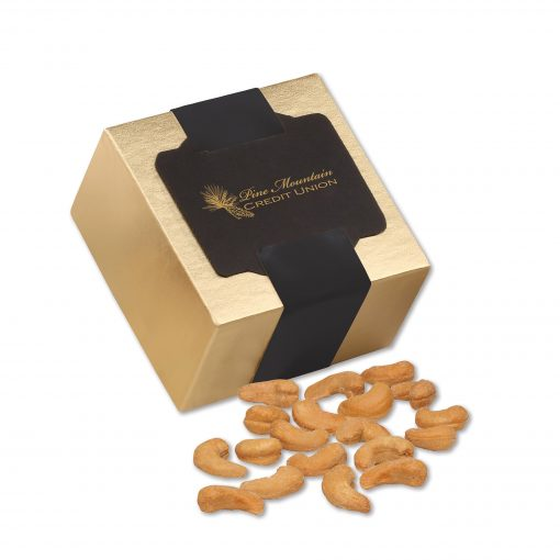 Extra Fancy Jumbo Cashews in Gold Gift Box