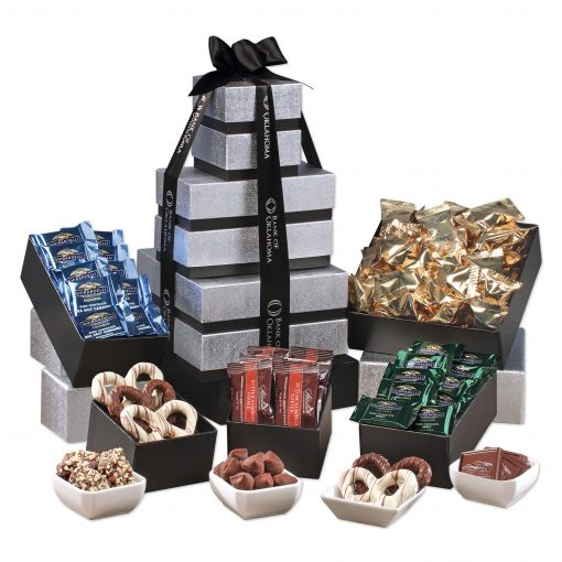 Individually-Wrapped Tower of Chocolate
