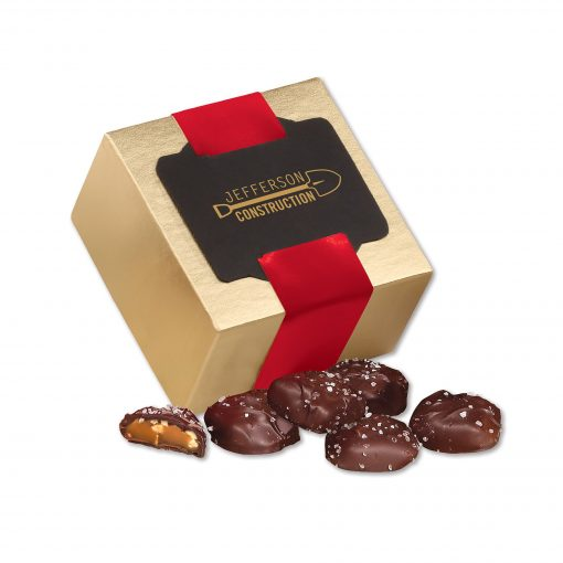 Sea Salt Almond Turtles in Gold Gift Box