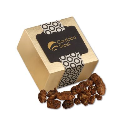 Coconut Praline Pecans in Gold Gift Box
