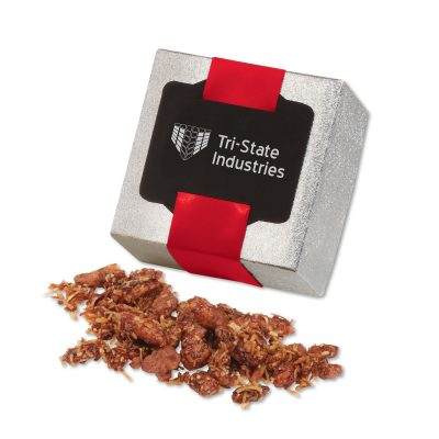Coconut Praline Pecans in Silver Gift Box