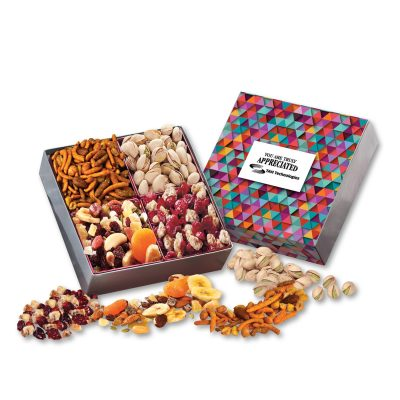Gift Box with Gourmet Treats with Triangles Sleeve