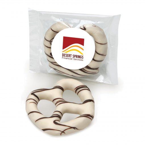 White Chocolate Dipped Pretzel