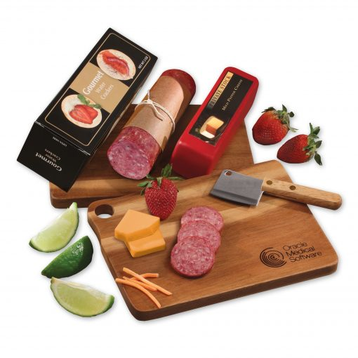 Gourmet Assortment with Acacia Charcuterie Serving Board