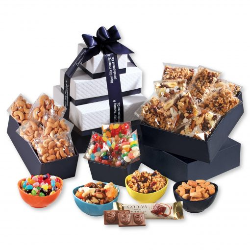 Individually-Wrapped Sweet & Salty Snacks Tower