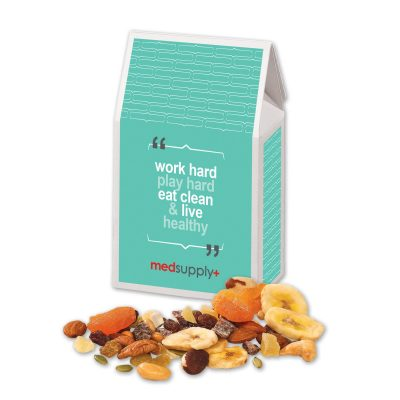 Western Trail Mix in Gable Top Gift Box with Full Color Imprint