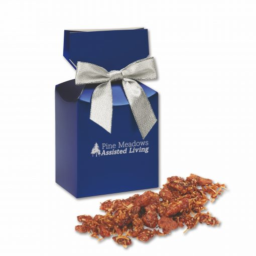 Coconut Praline Pecans in Blue Premium Delights Gift Box