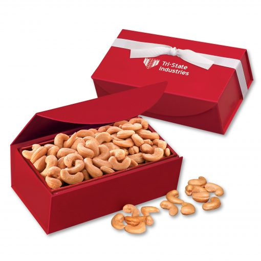Extra Fancy Jumbo Cashews in Red Magnetic Closure Gift Box
