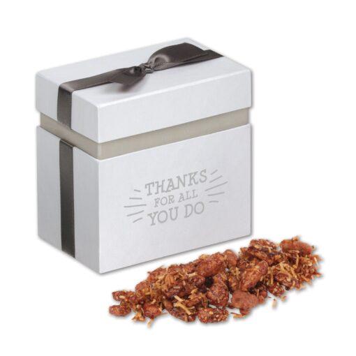 Coconut Praline Pecans in Elegant Treats Gift Box