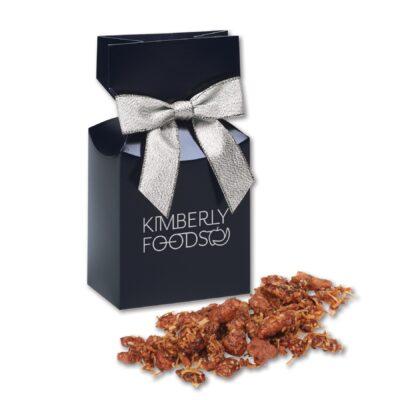 Coconut Praline Pecans in Navy Premium Delights Gift Box