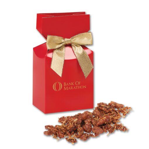 Coconut Praline Pecans in Red Premium Delights Gift Box