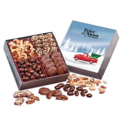 Gourmet Holiday Gift Box with Red Truck Sleeve