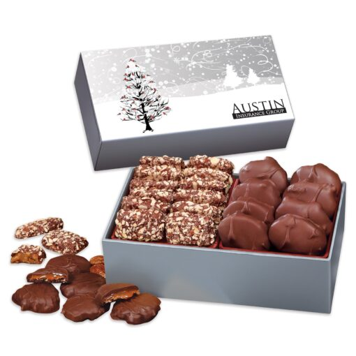 Toffee & Turtles in Gift Box with Cardinals in Tree Sleeve