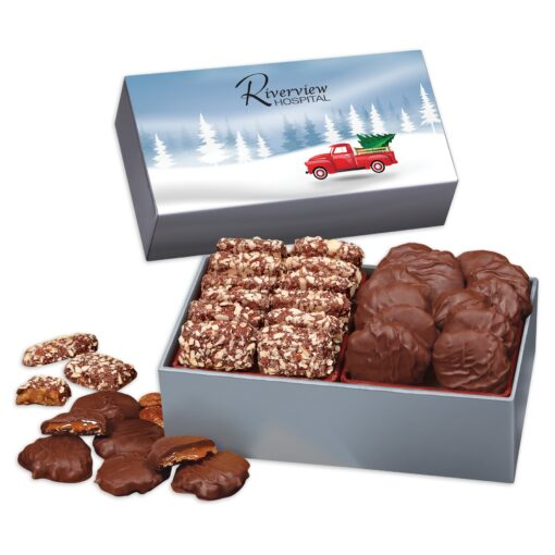 Toffee & Turtles in Gift Box with Red Truck Sleeve