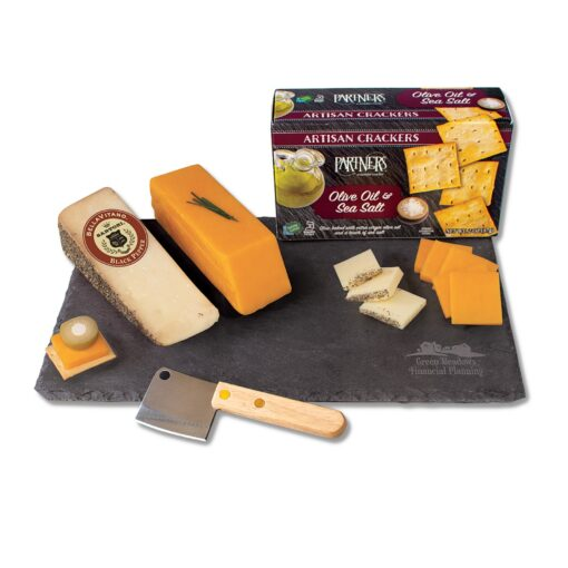 Genuine Slate Serving Plate with Wisconsin Cheese
