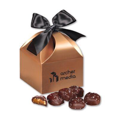 Sea Salt Almond Turtles in Copper Classic Treats Gift Box