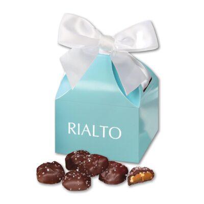 Sea Salt Almond Turtles in Robin's Egg Blue Classic Treats Gift Box